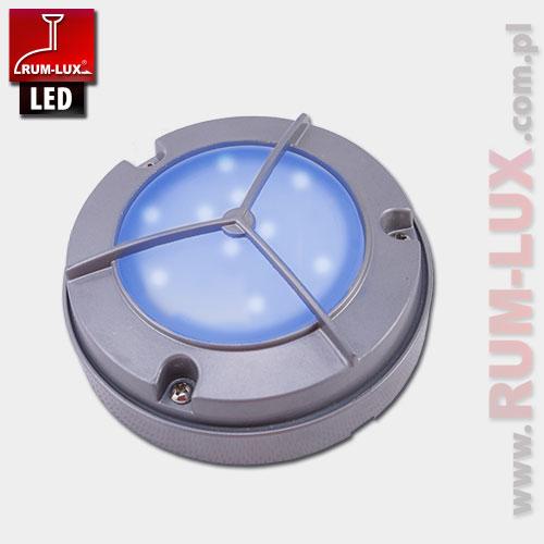 Oprawa LED-12 fasadowa [światło niebieskie | obudowa szara]